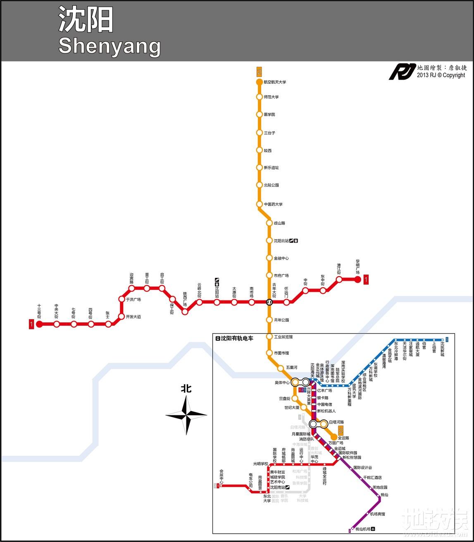 沈阳地铁线路图最新版图片
