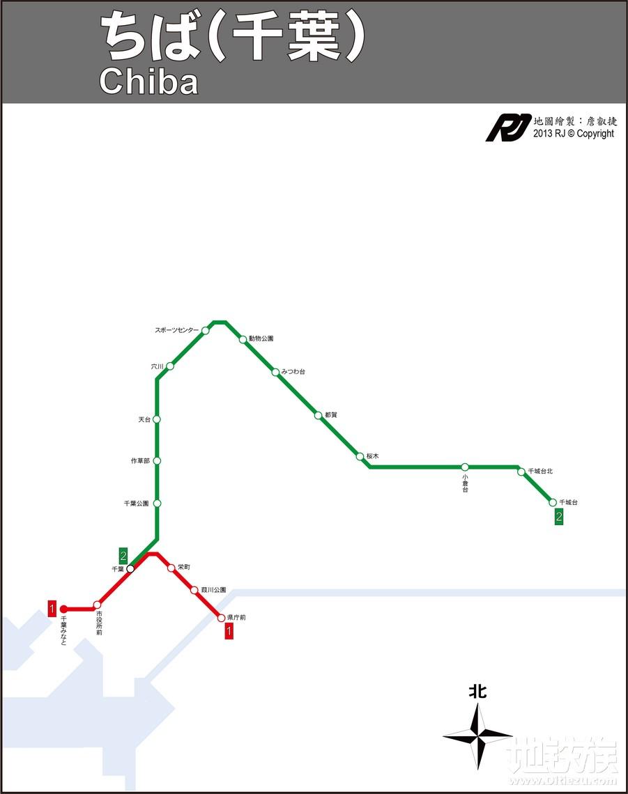 日本千叶地铁线路图_交通地图库