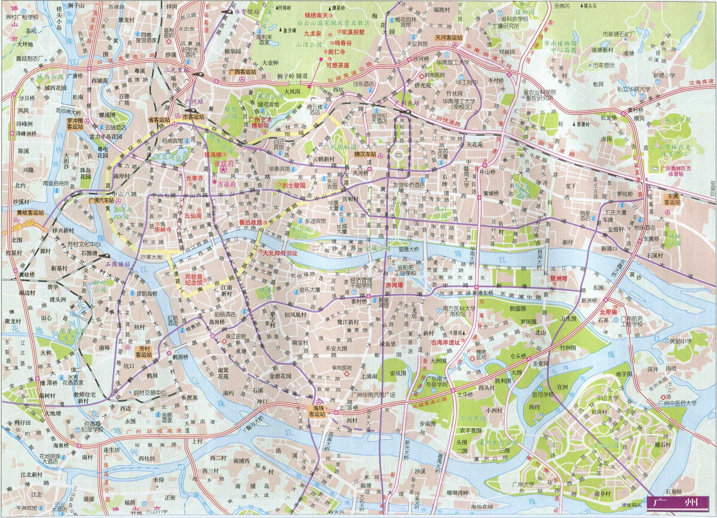 中国地图 专题 旅游线路图 >> 广东旅游线路图_广州  栏目导航:行政