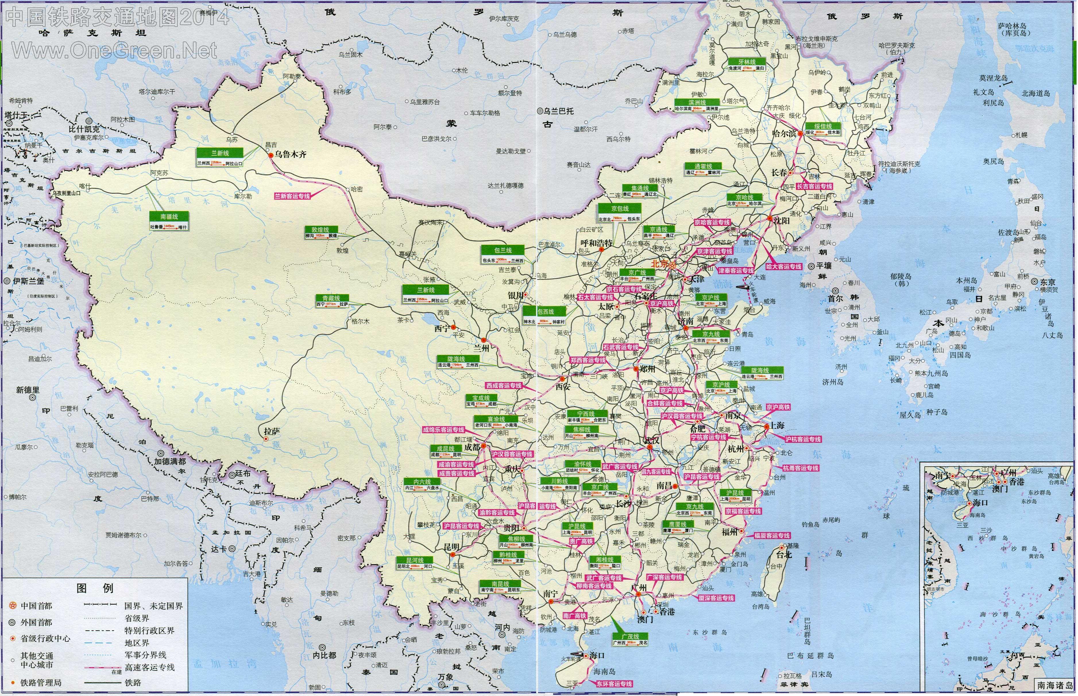 中国铁路 电子地图 中国铁路地图全图 中国铁路详细地图