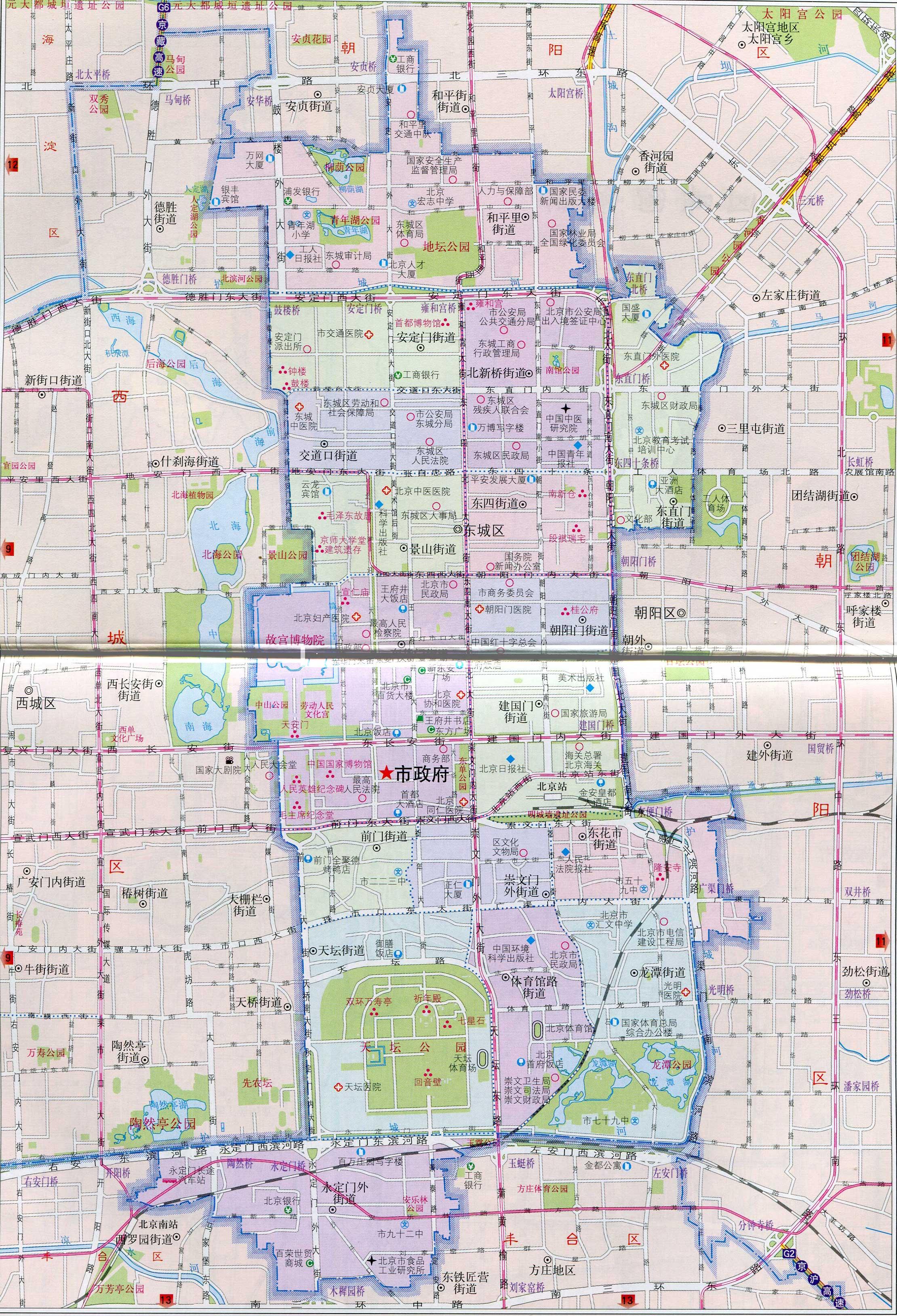 北京市东城区地图_北京区县地图库