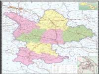地图 甘肃/定西市地图(政区版)