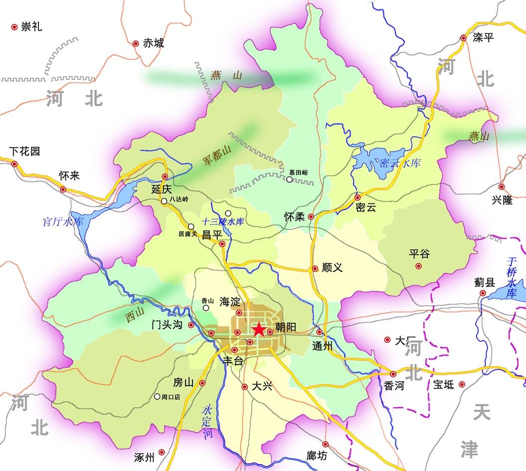 北京市行政区划地图