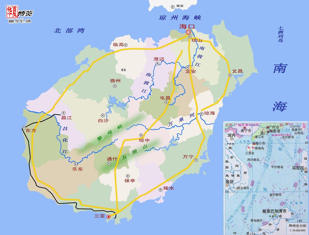 海南地图全图展示