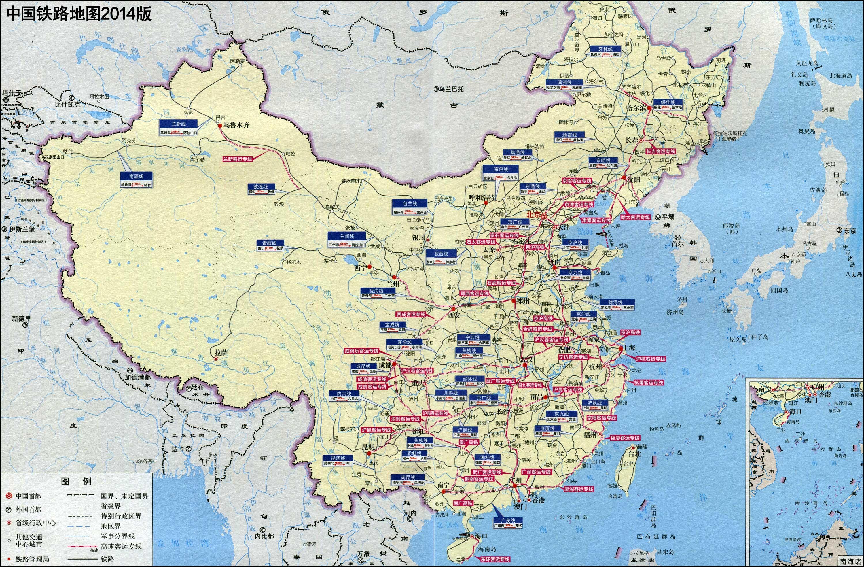 地图窝 交通地图 铁路线路图 >> 中国铁路网络地图  [1] [2] 下一页