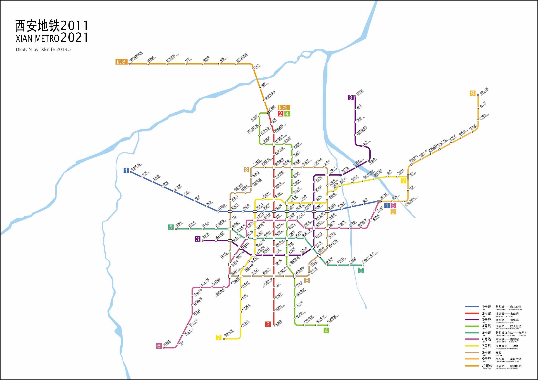 韩国首尔地铁图_西安地铁线路规划图(2011-2021)_地图窝