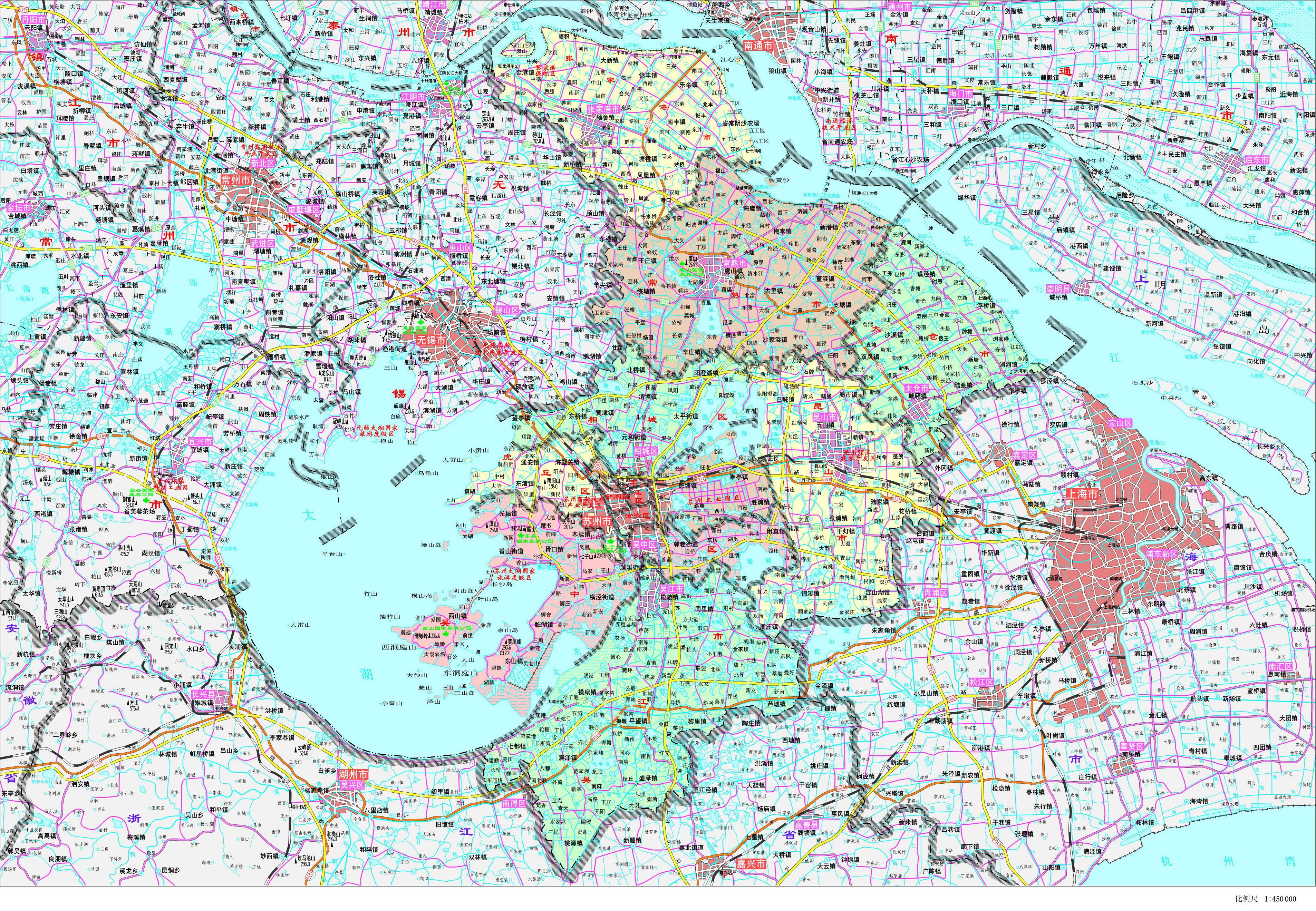 苏州市政区地图