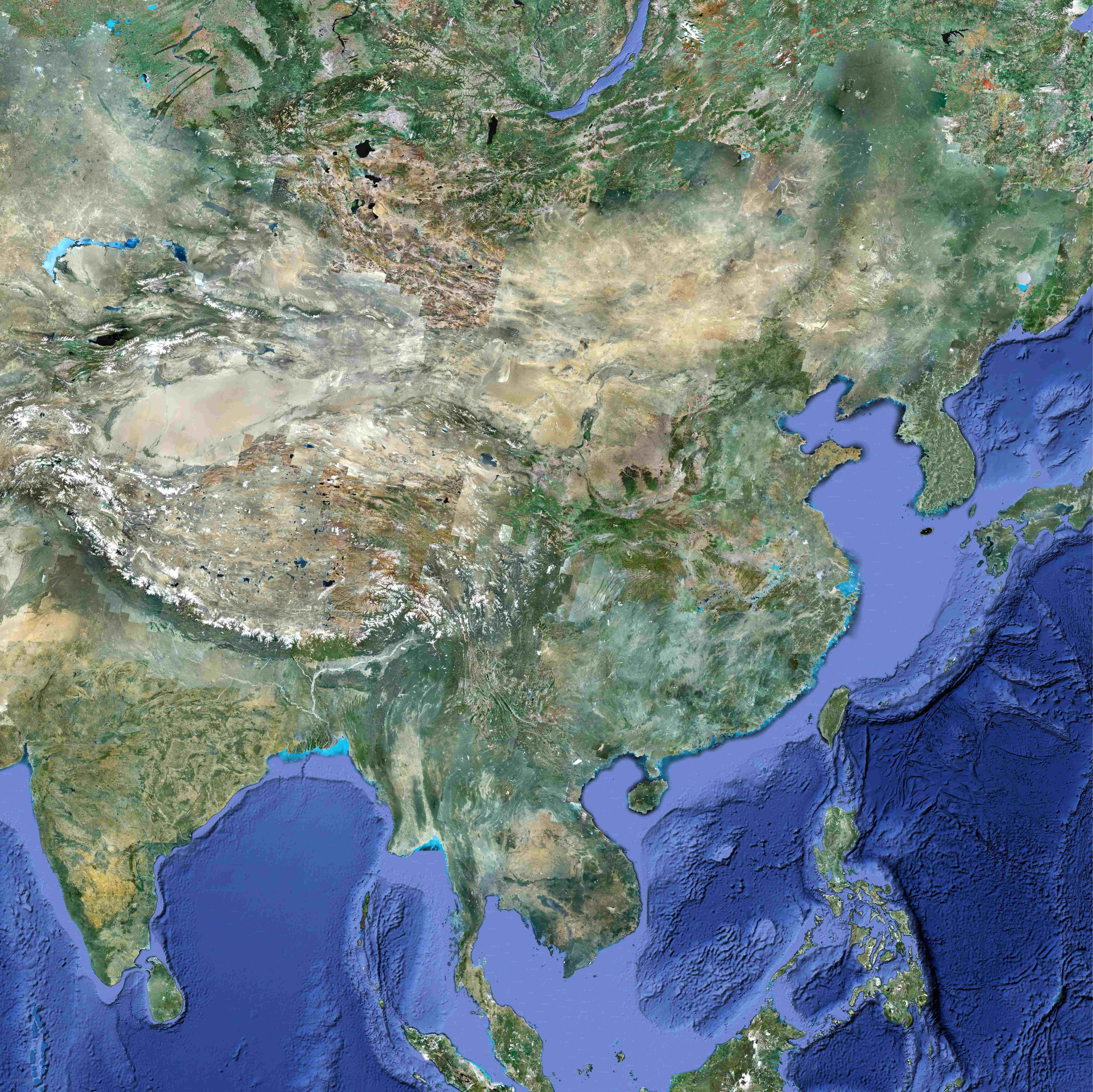 中国地图卫星地图超大(1.4亿像素)