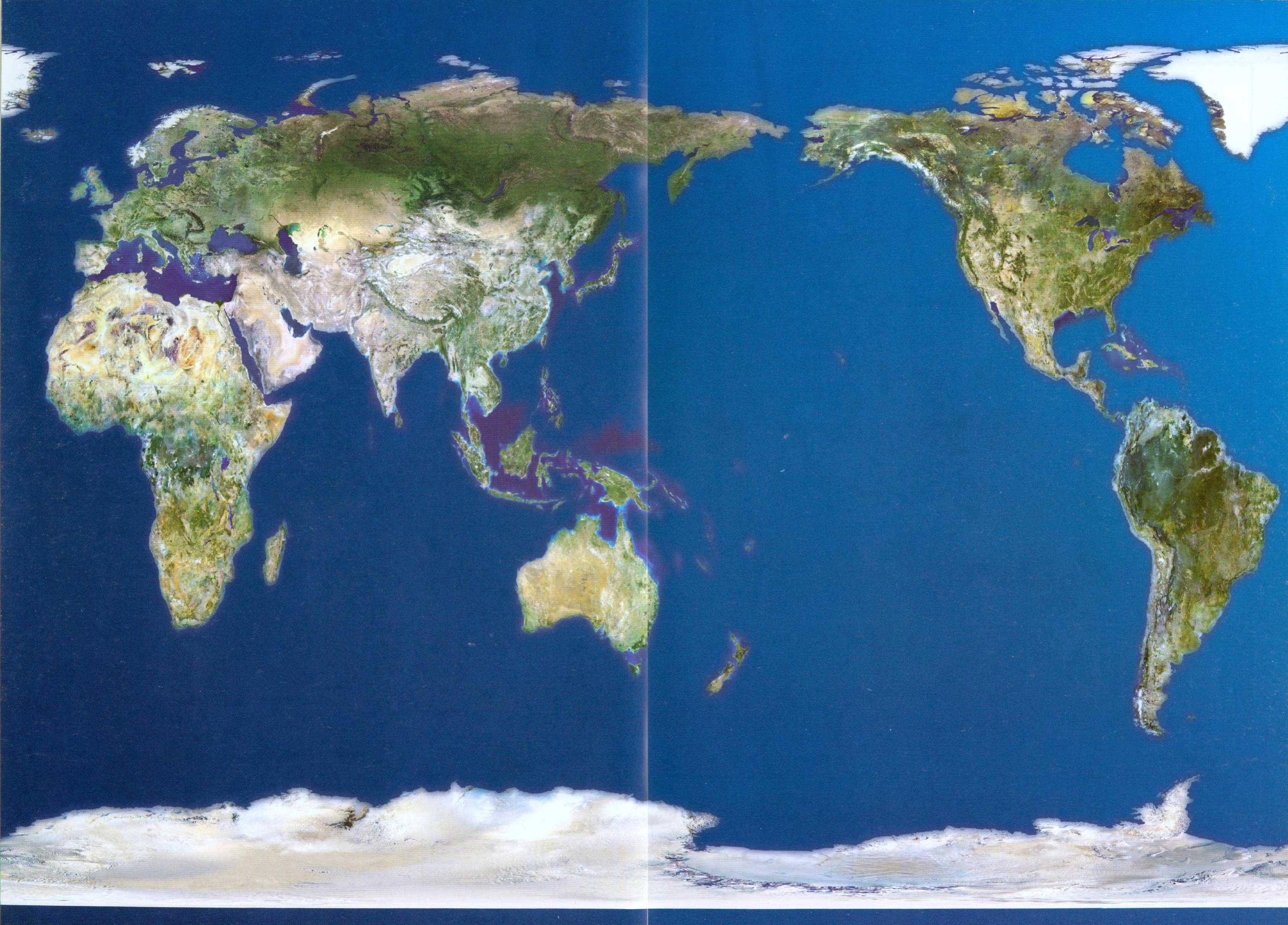 世界卫星地图高清全图