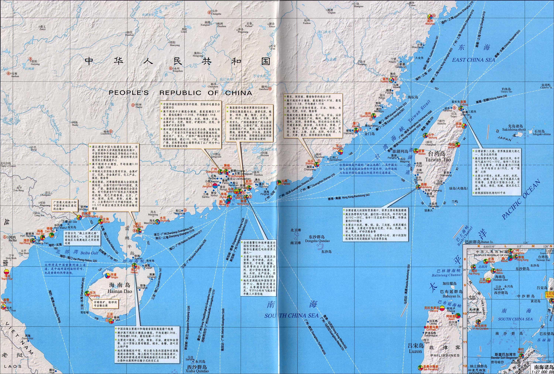 中国沿海地区港口分布图