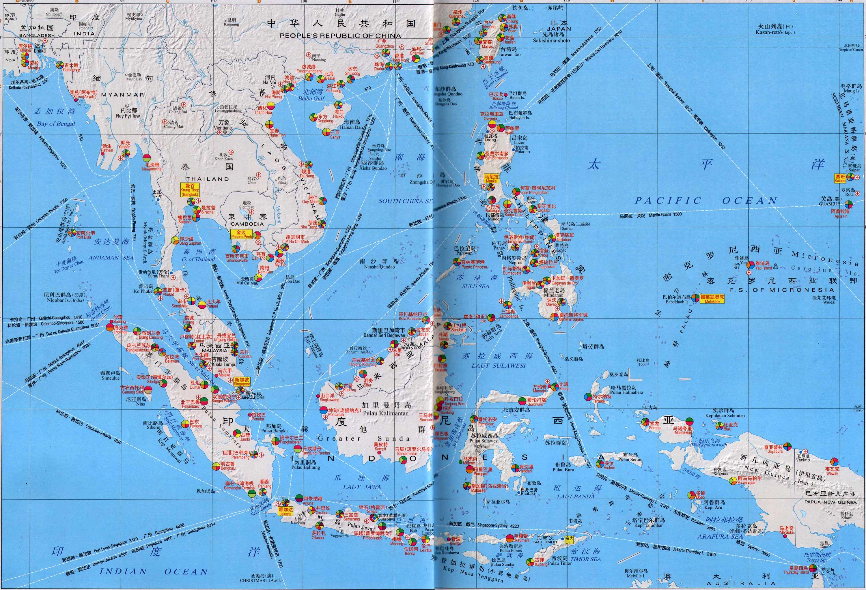 东南亚港口分布地图