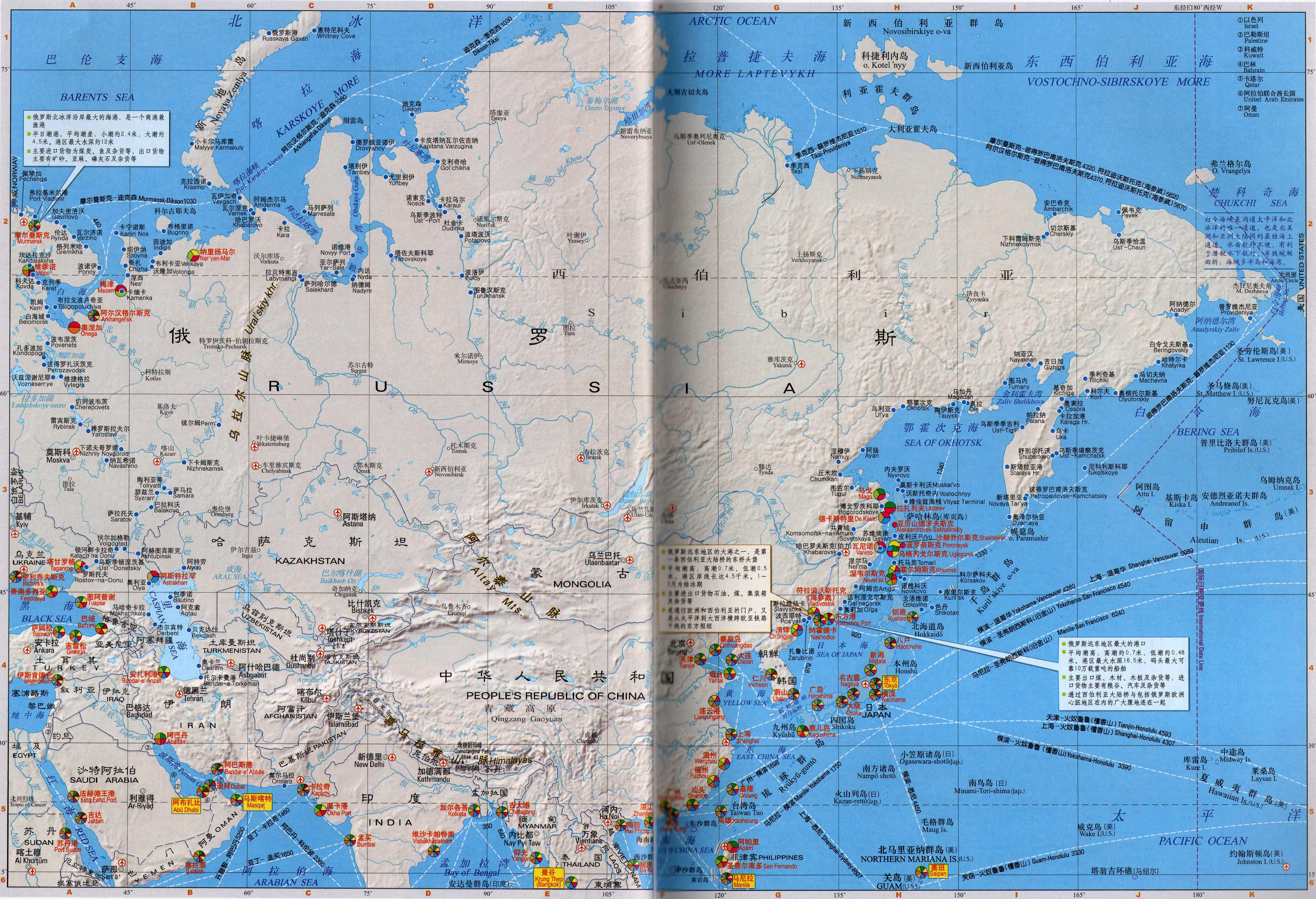 地图库 交通地图 港口分布图 >> 俄罗斯港口分布图