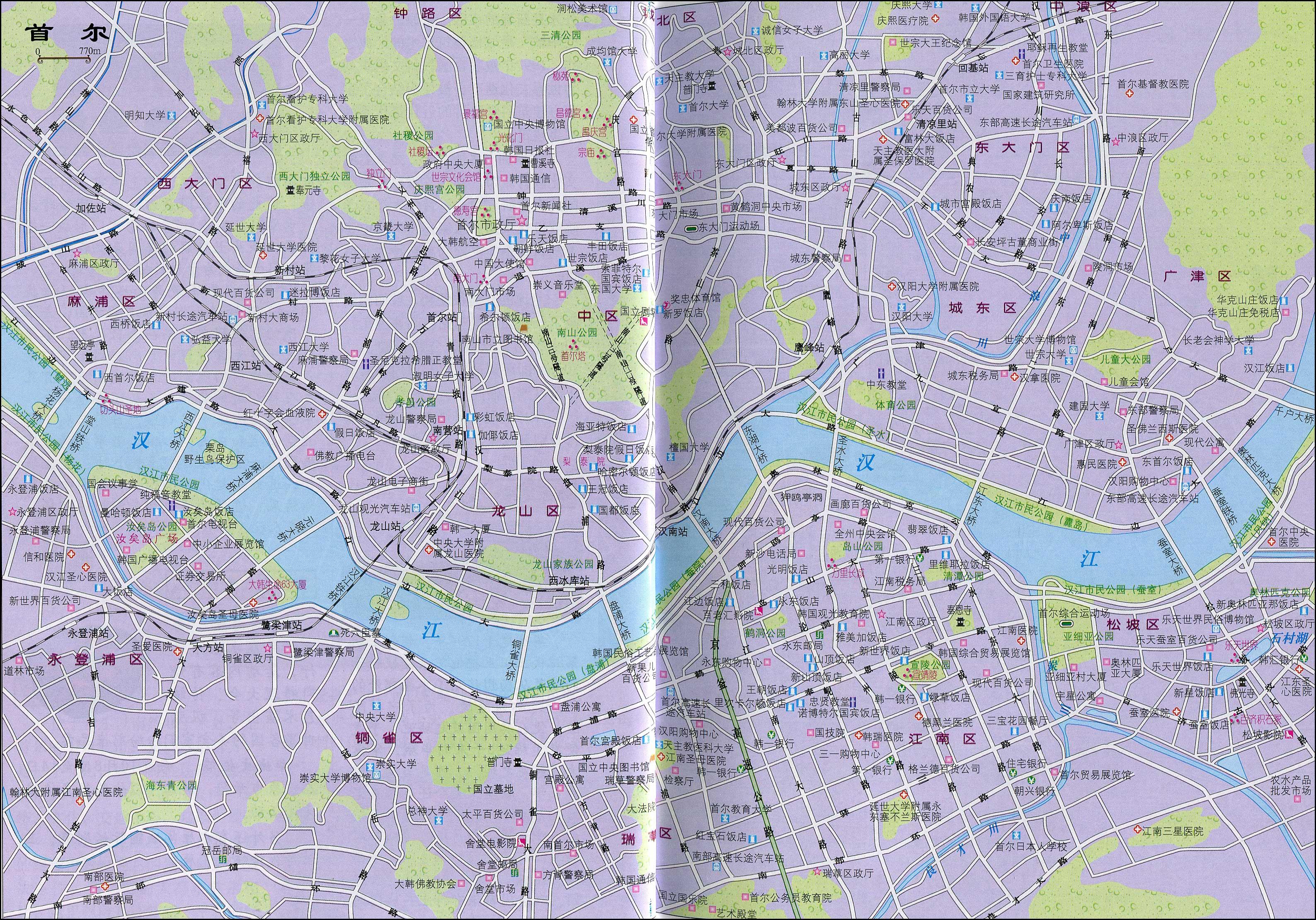 韩国首尔地图