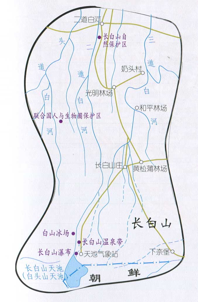 吉林旅游地图库图片