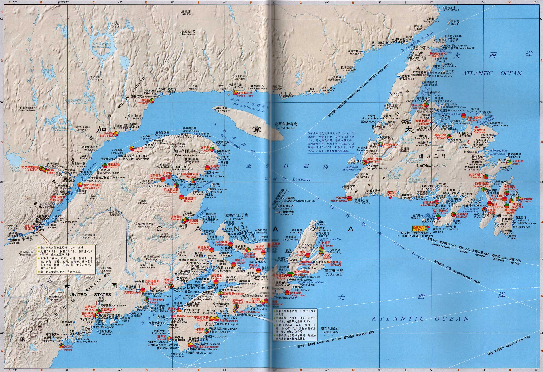 港口分布图    下一张地图: 古巴,巴哈马,美国东南部沿海地区港口