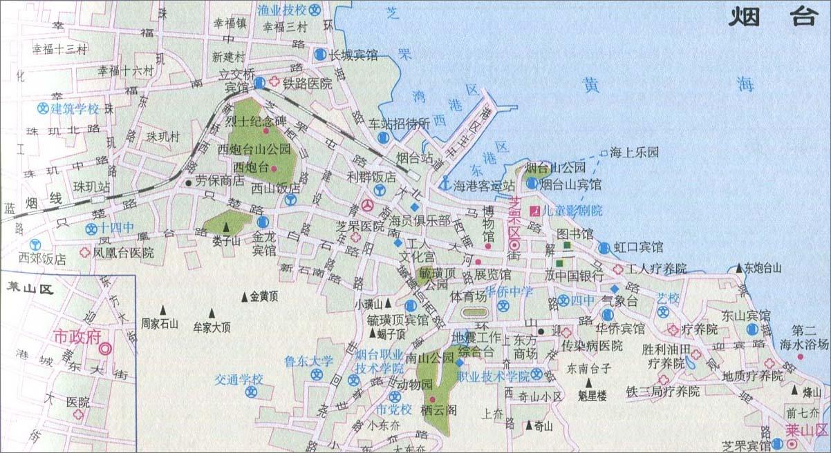 烟台城区地图