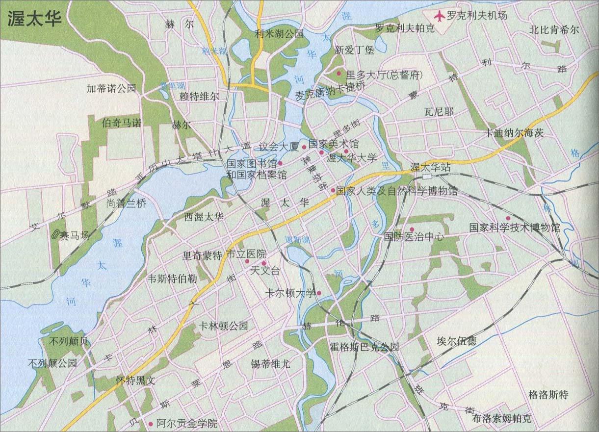 渥太华旅游地图
