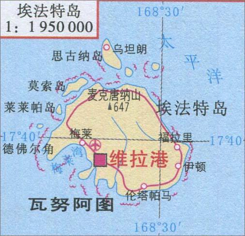 埃法特岛旅游地图_大洋洲地图库