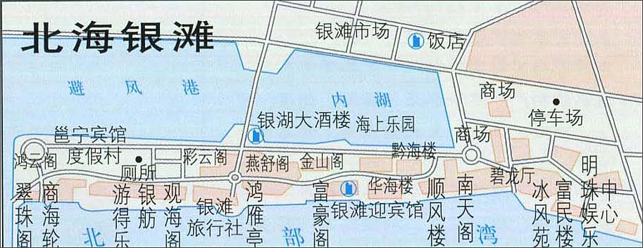 北海银滩旅游地图