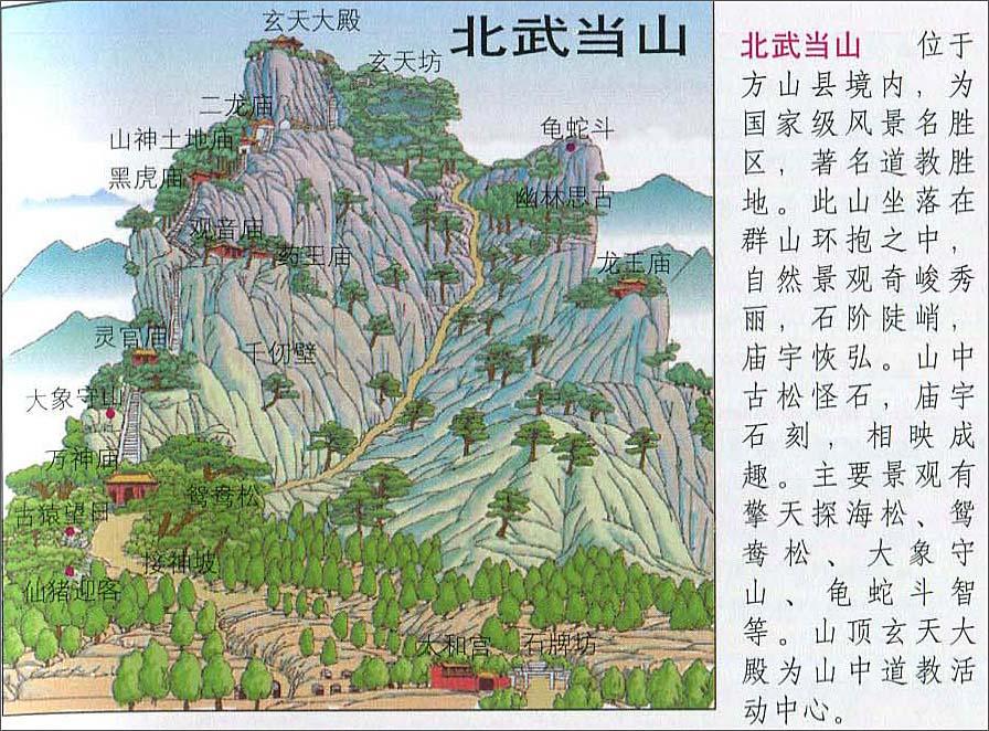 北武当山旅游地图