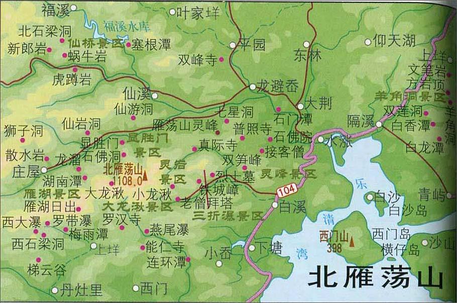 宁波动物园景区地图