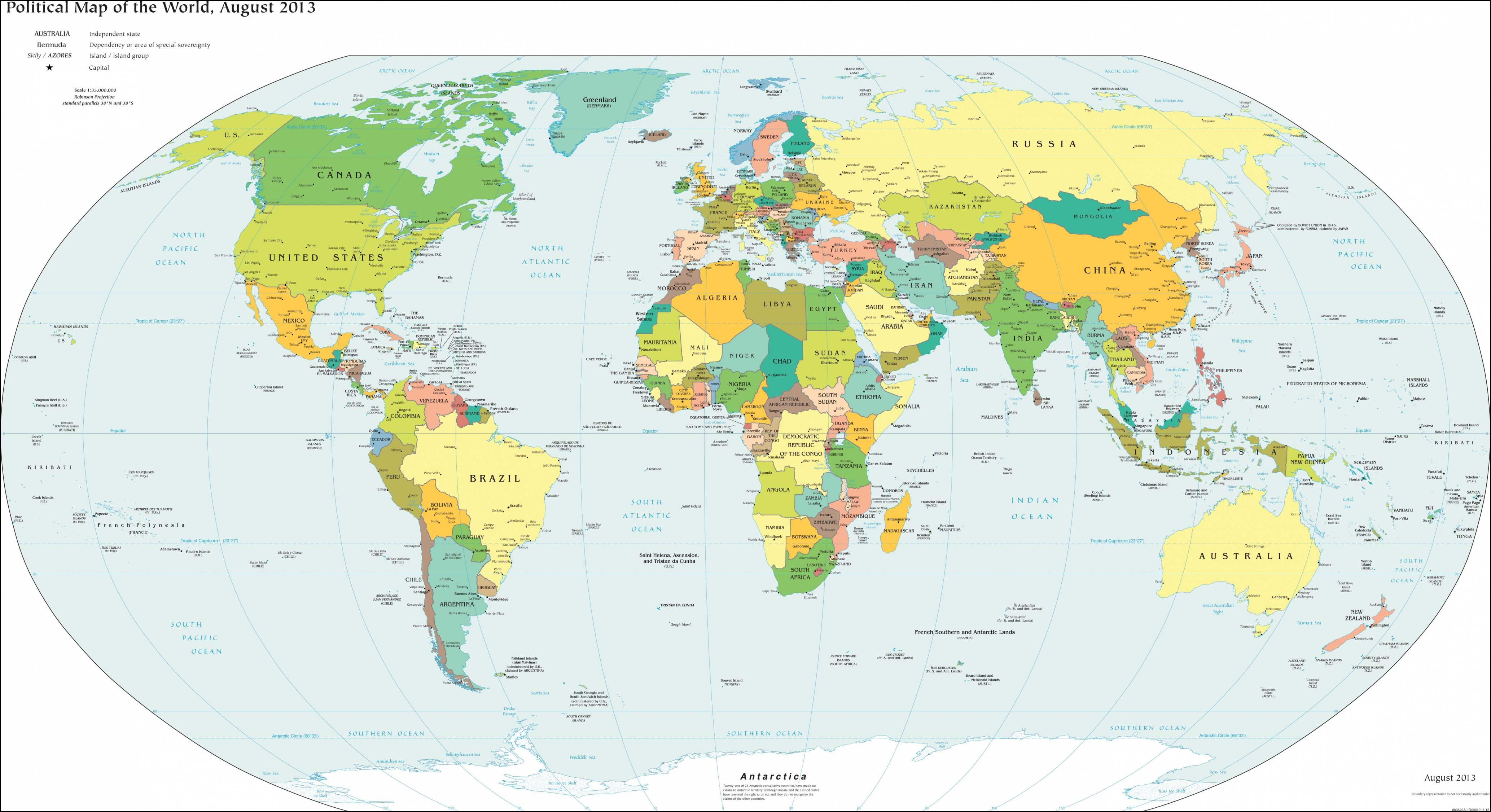 世界地图(英文版)