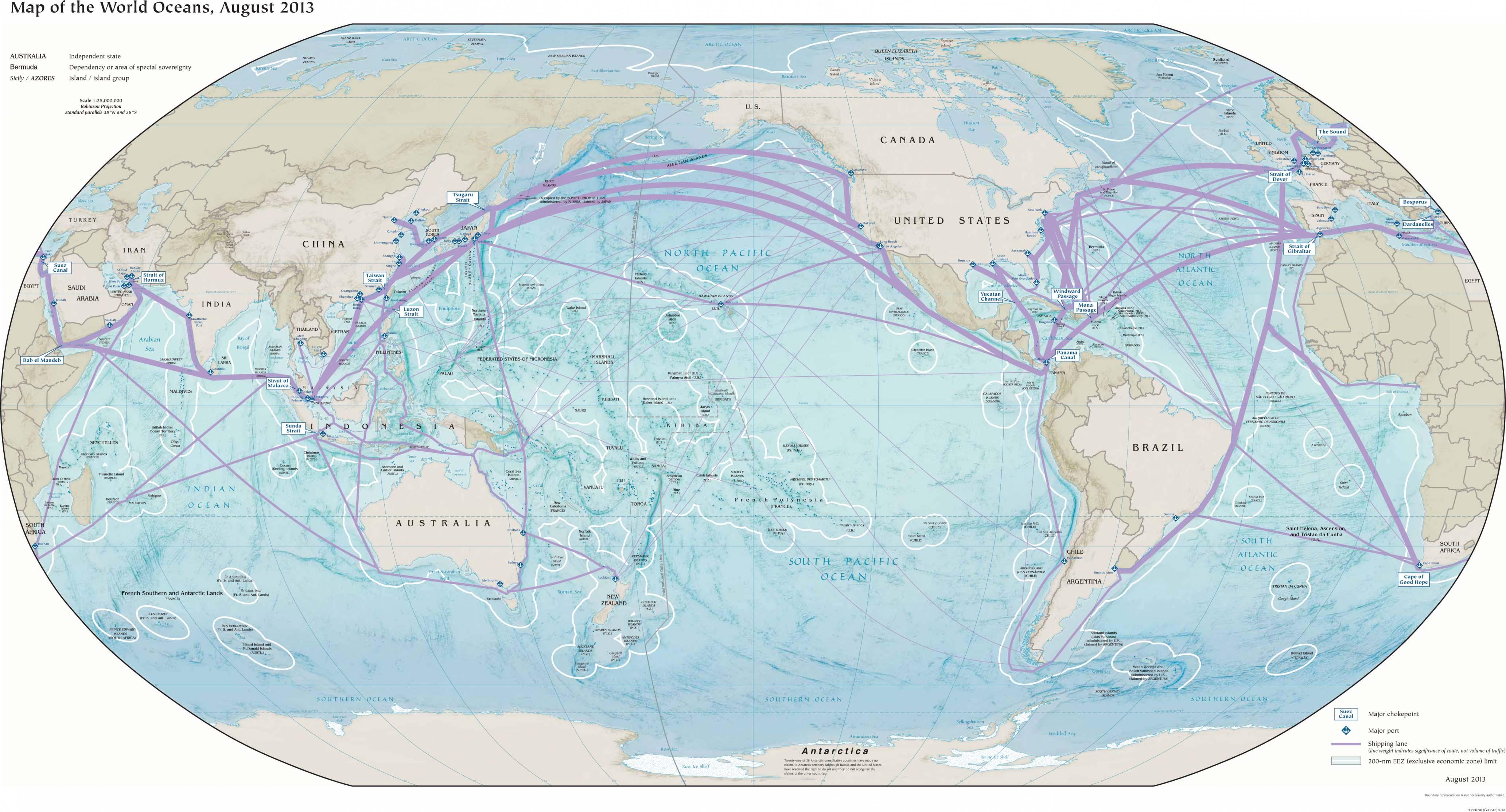 世界地图(海洋版)