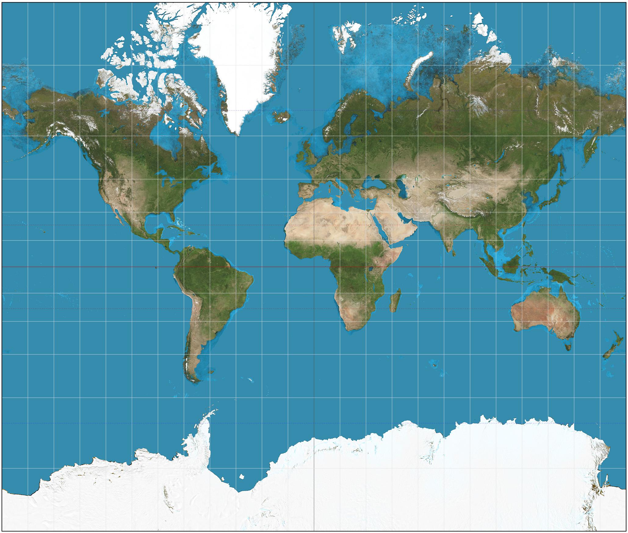 世界地图(圆形+方形)