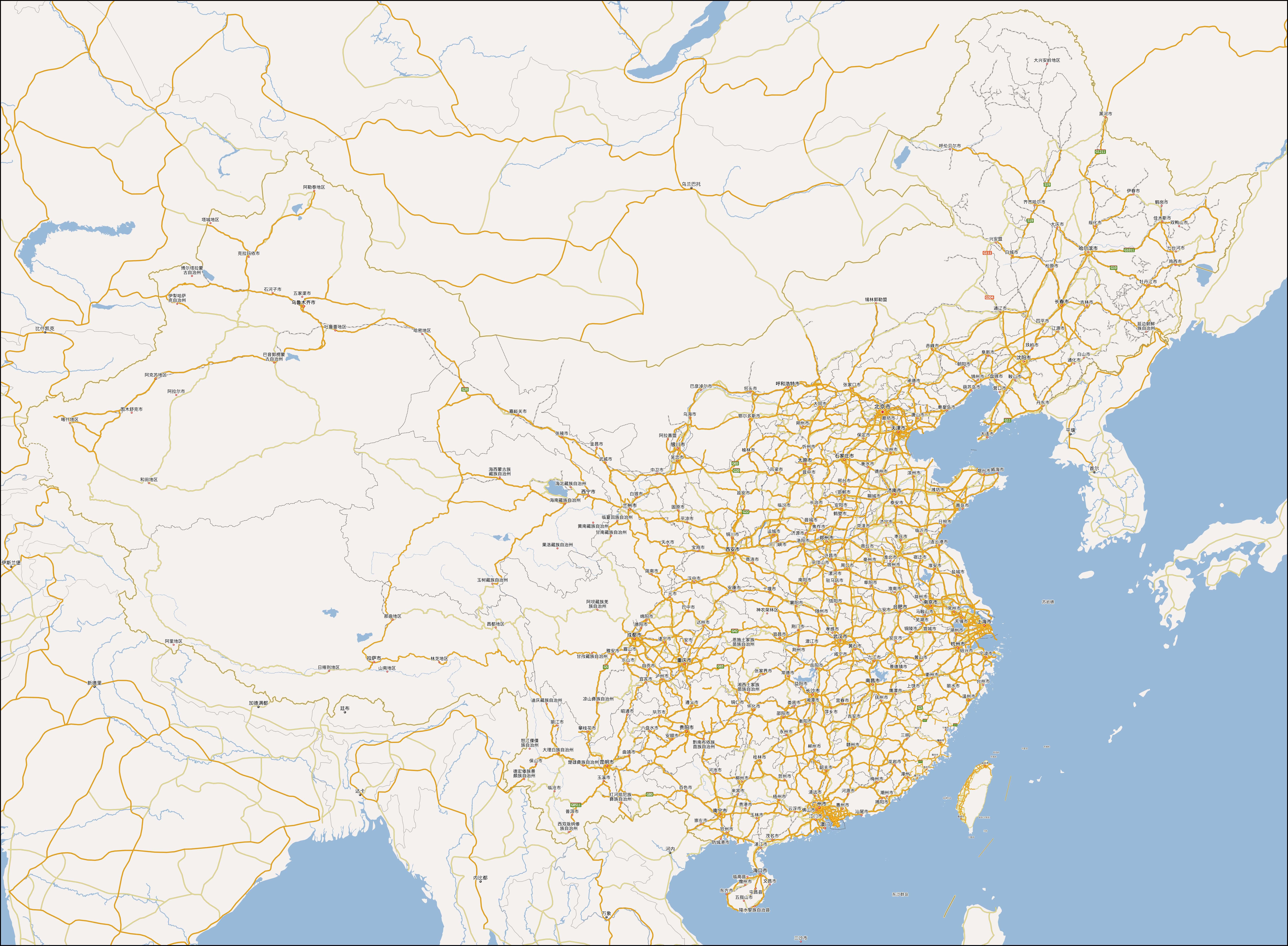 中国地图高清版大图(全系列)