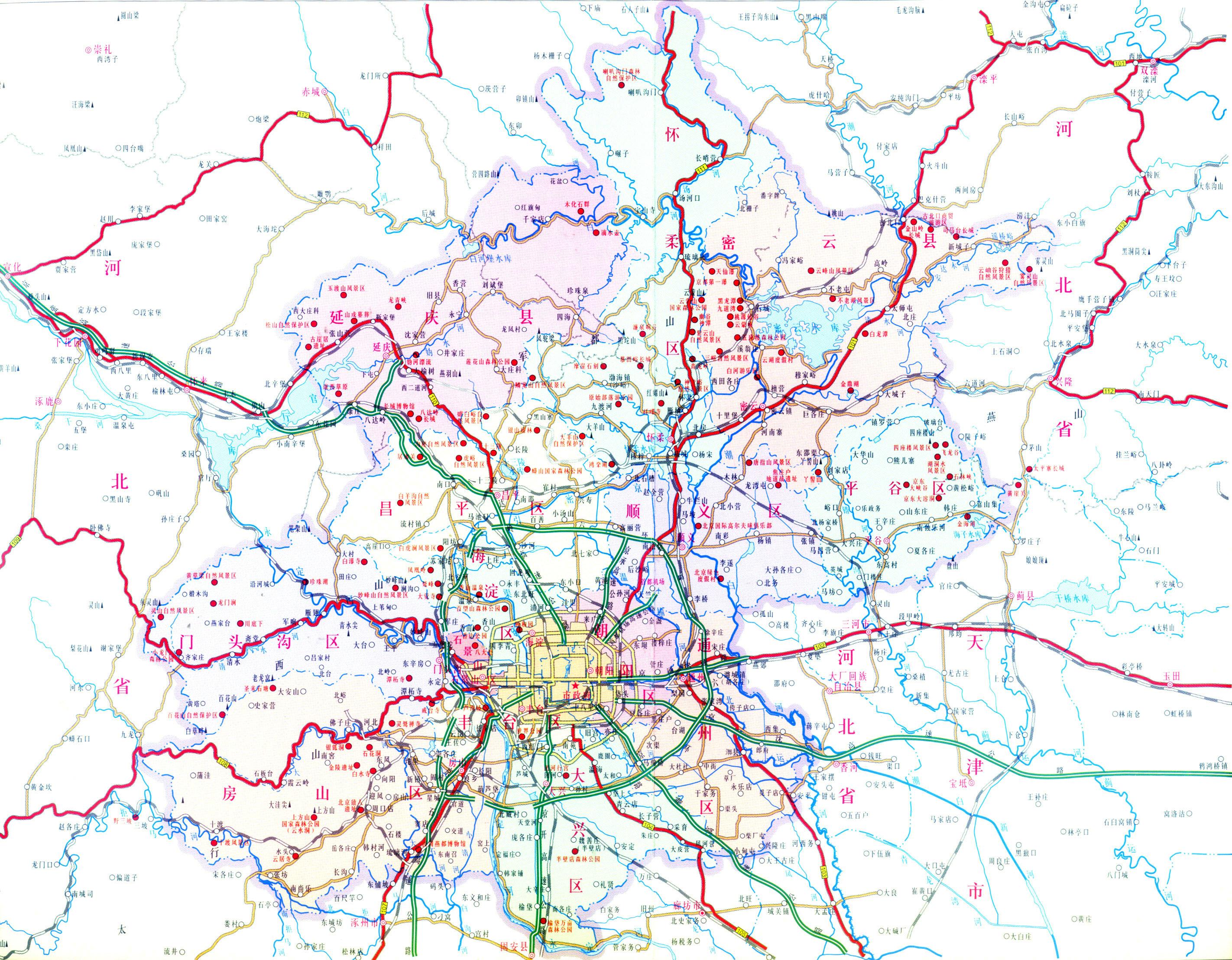北京市旅游景点大全_北京旅游地图库