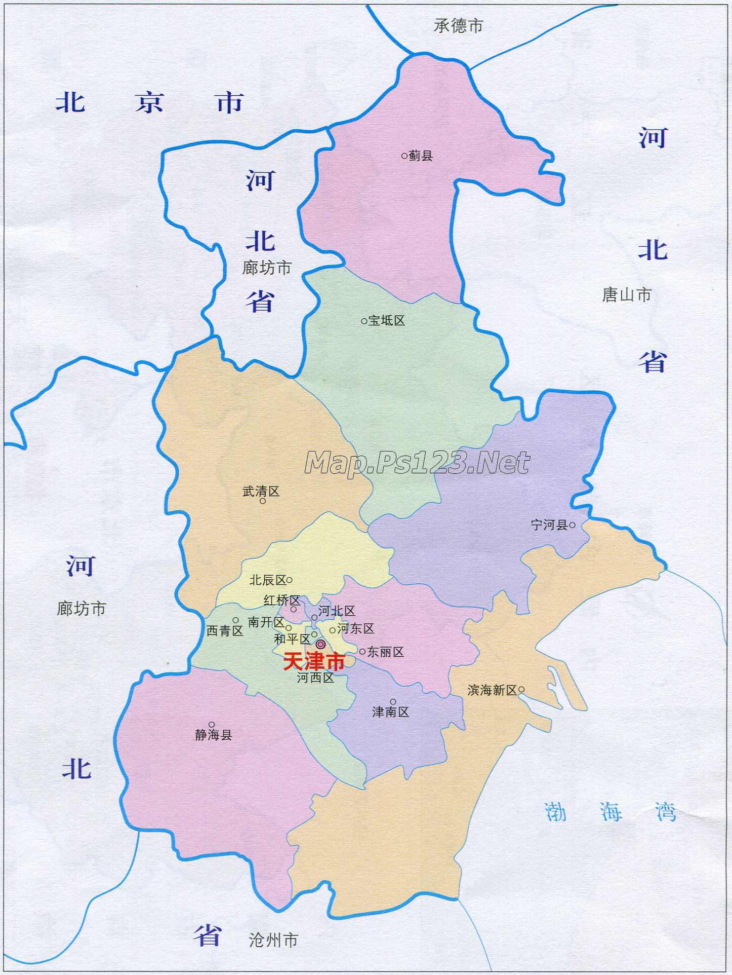天津行政区划简图_行政简图地图库_地图窝图片