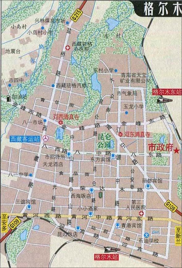 青海格尔木地图_格尔木自驾游地图_青海旅游地图库_地图窝