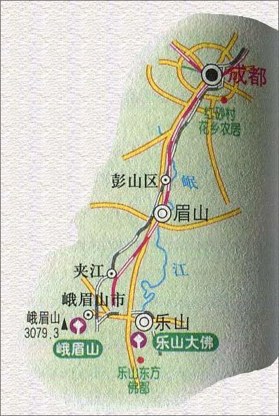 中国旅游景点图_成都至乐山大佛旅游路线图_四川旅游地图库_地图窝