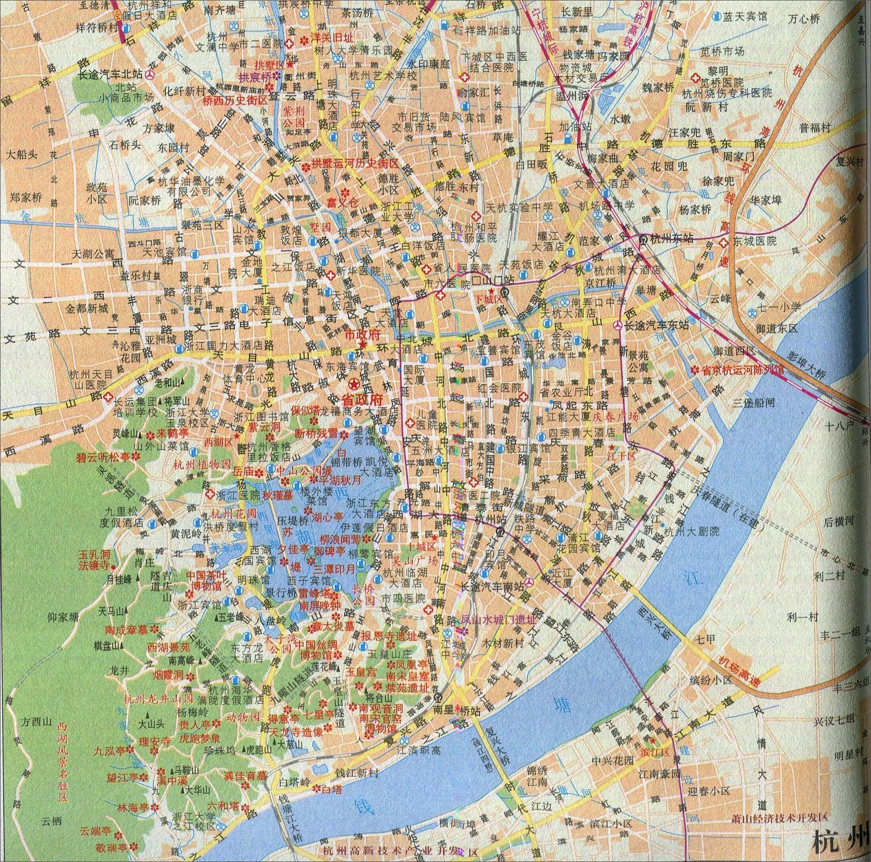 地图库 旅游地图 浙江旅游 >> 杭州旅游交通地图    世界各国 | 中国