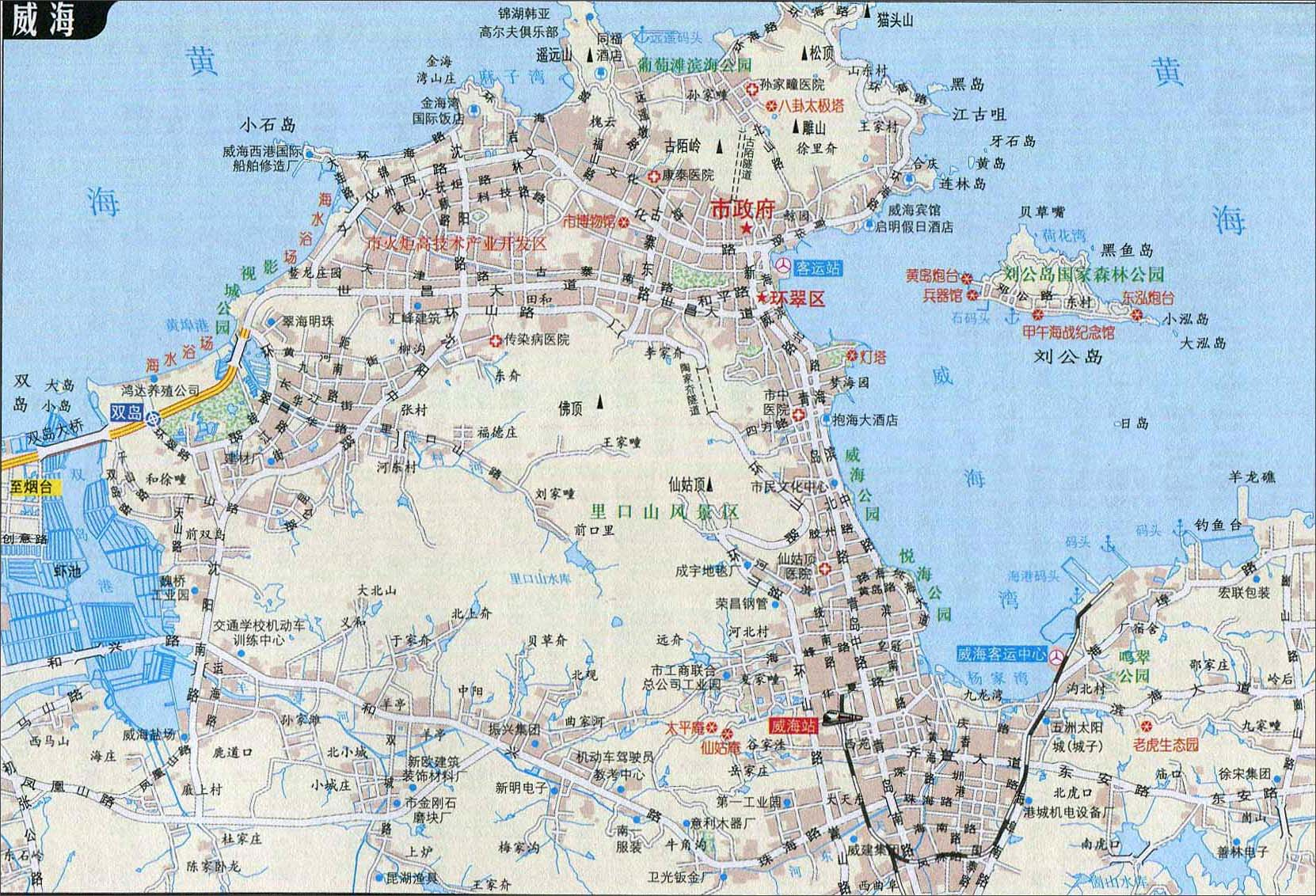临沂地图交通图_威海自驾游地图_山东旅游地图库_地图窝
