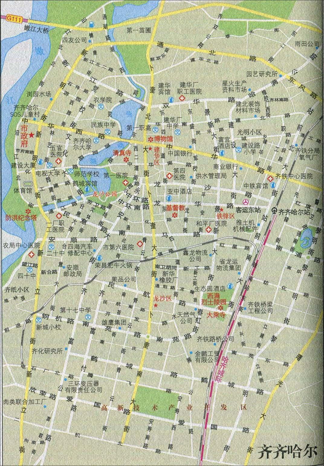 浙江旅游景点大全_齐齐哈尔旅游交通地图_黑龙江旅游地图库_地图窝
