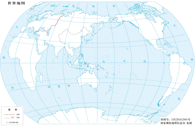 世界地图素材(线描图)