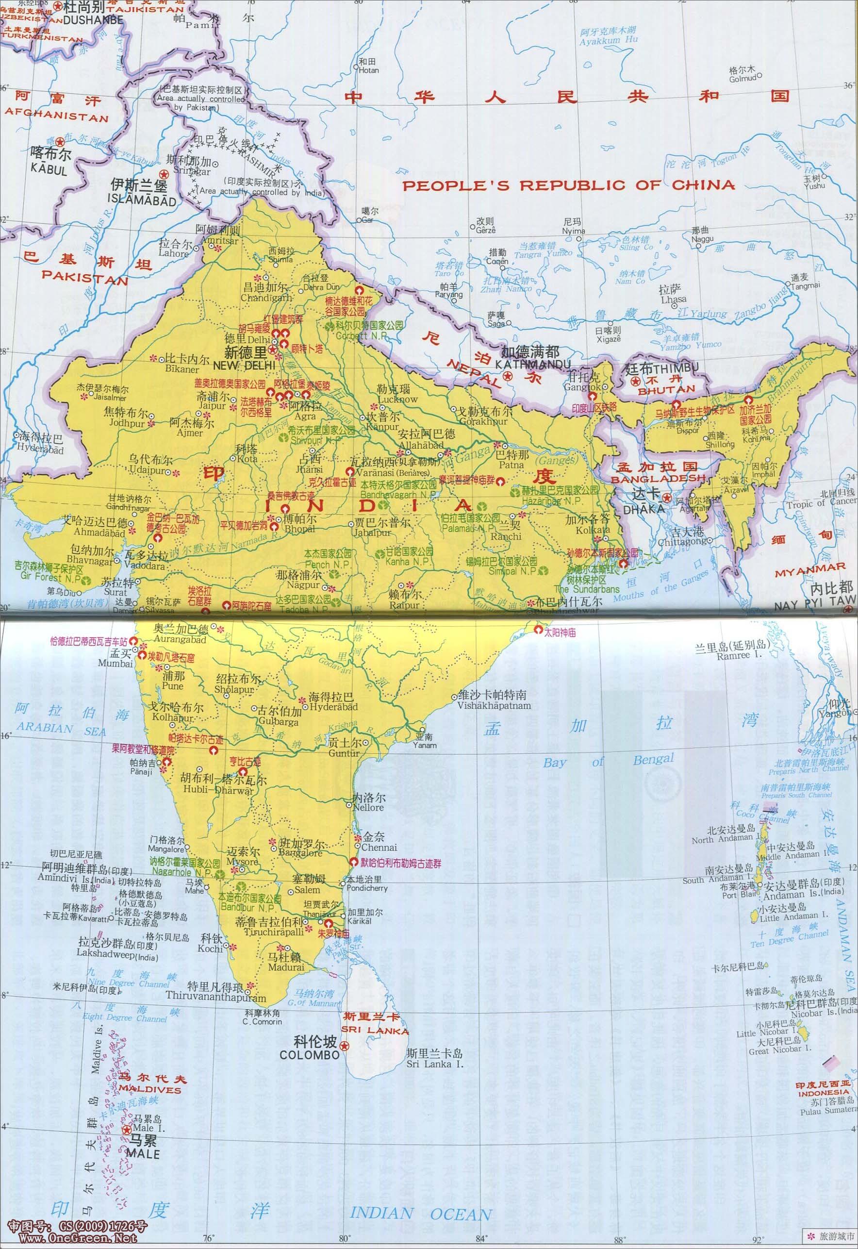 黎巴嫩地图_印度风景名胜图地图_印度地图库_地图窝
