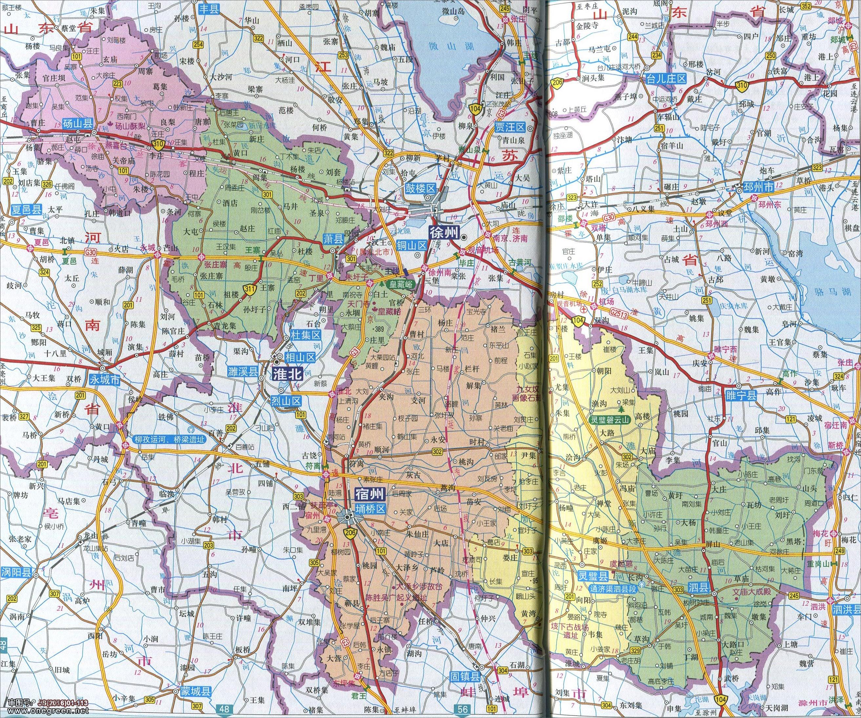 宿州市地图高清版