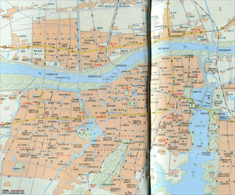 蚌埠城区地图