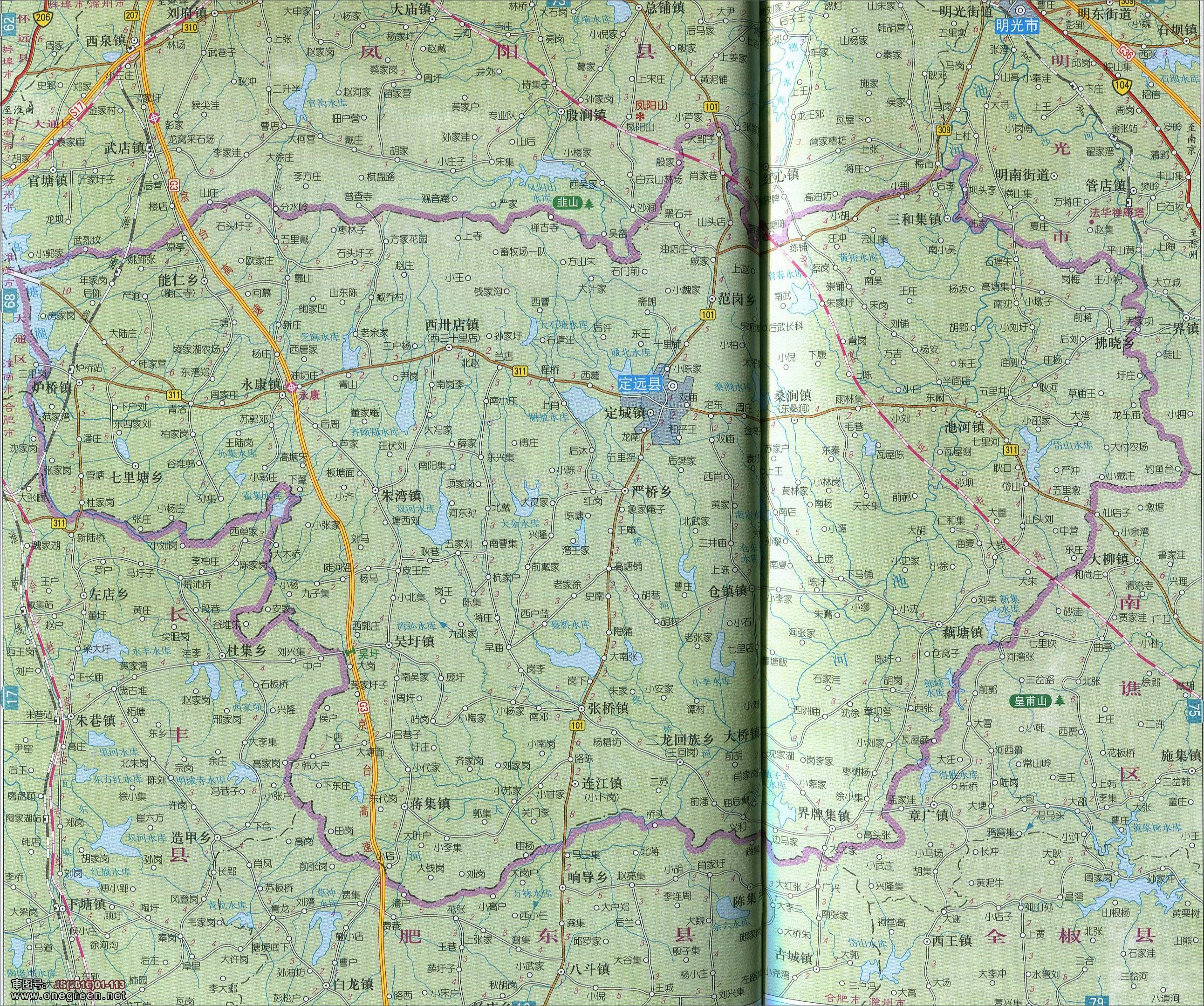 滁州市定远县地图