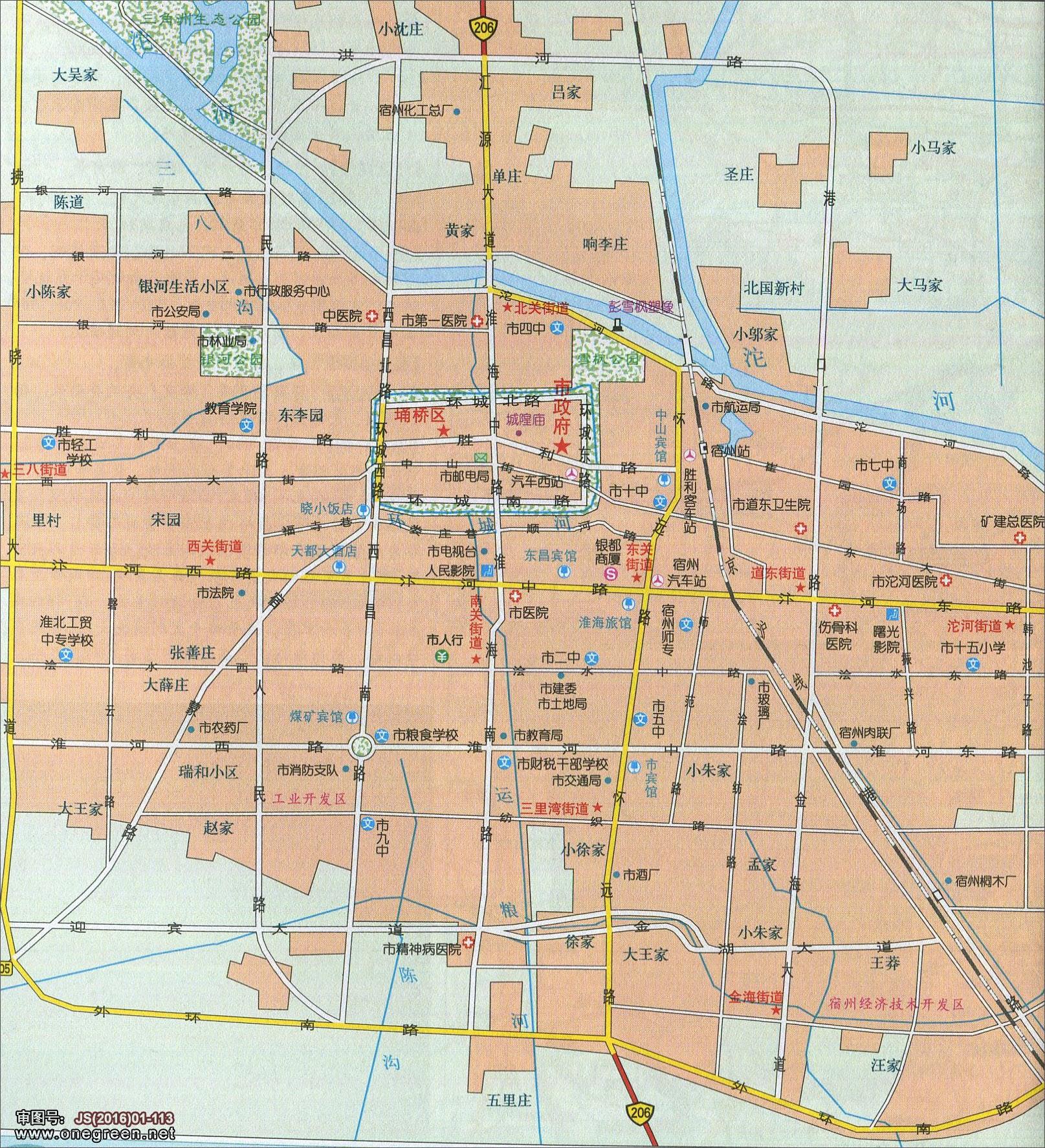 宿州城区地图