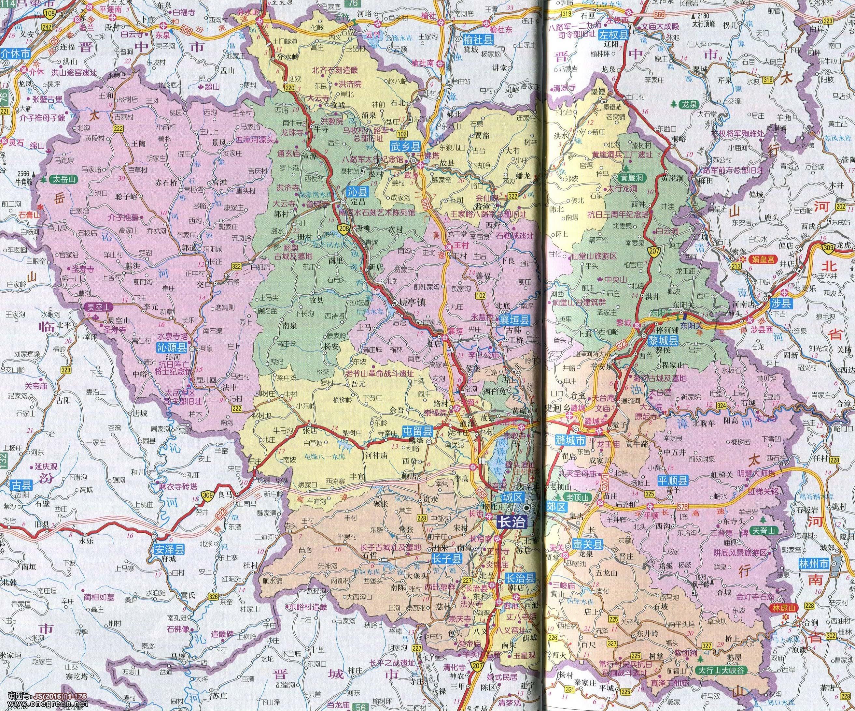 长治市地图高清版