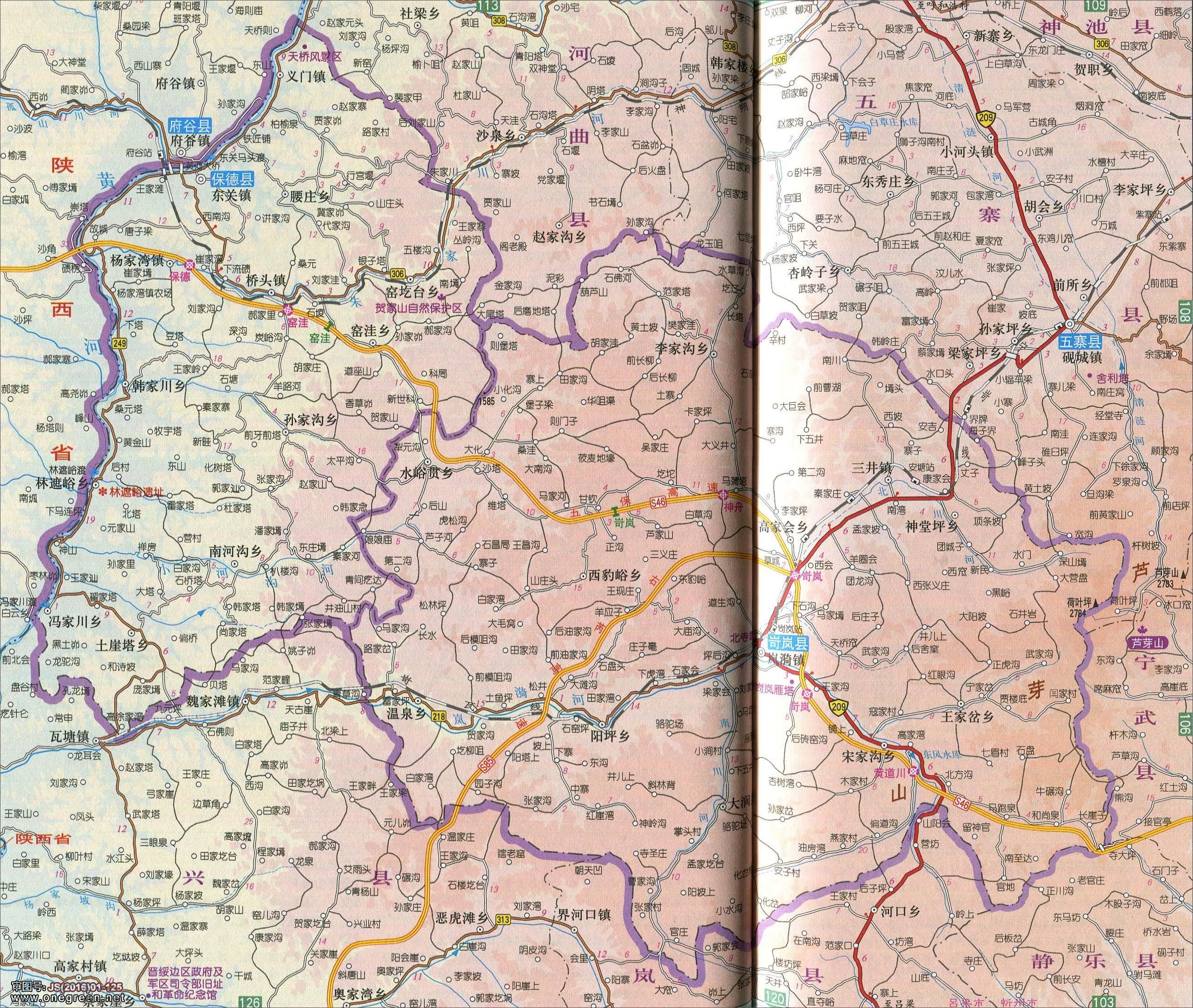 保德县岢岚县地图图片