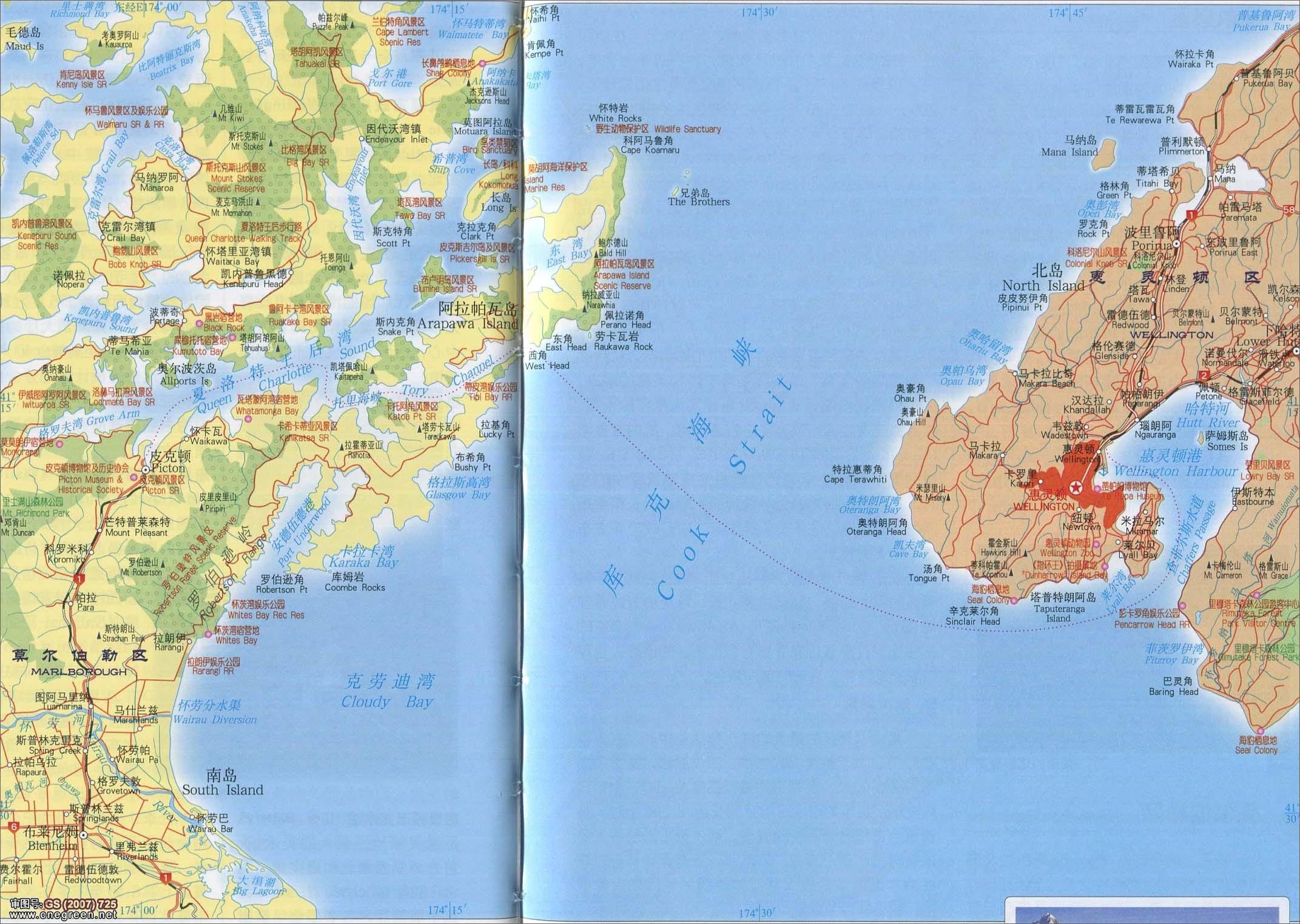 克马德克群岛地图
