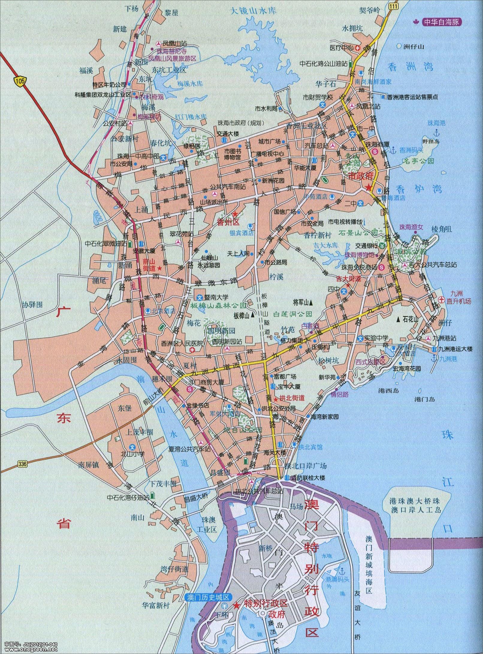 珠海市城区地图
