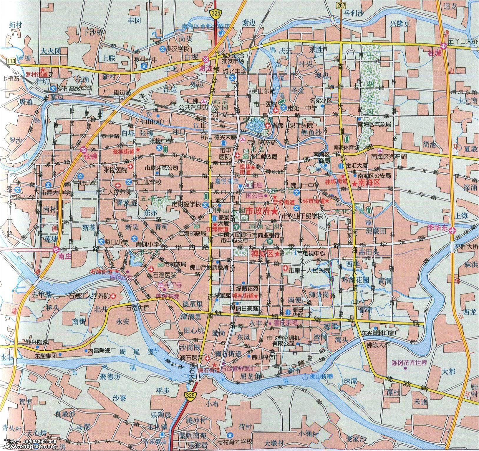 佛山市城区地图