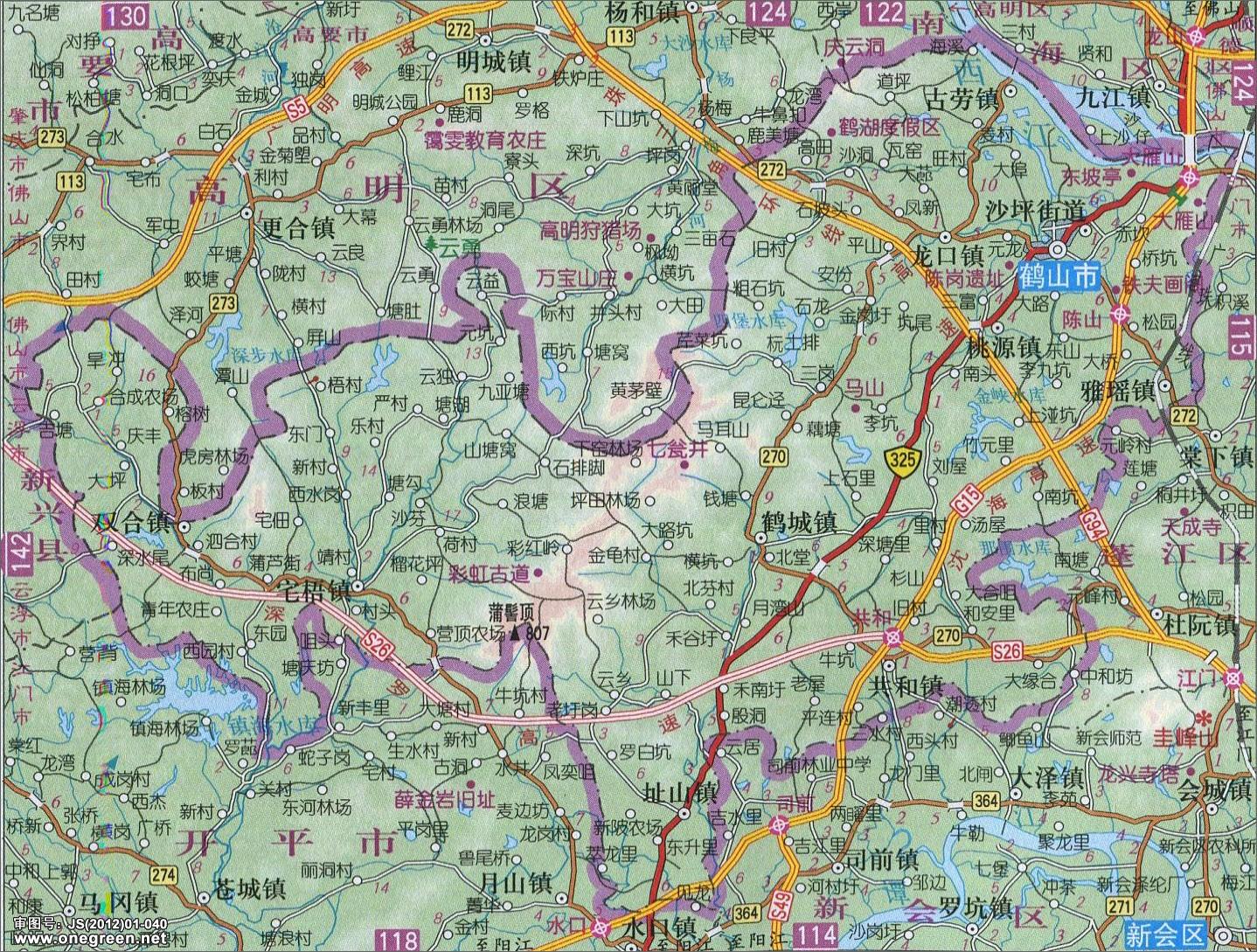 鹤山市地图