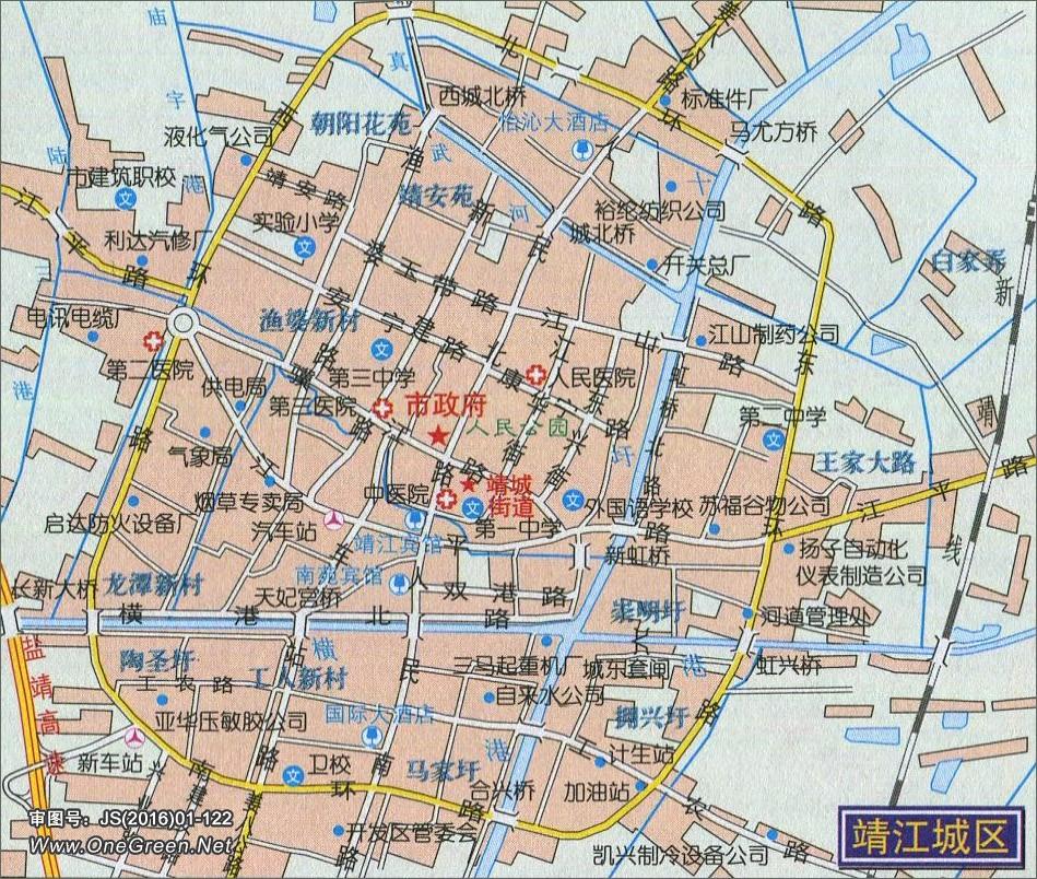 靖江城区地图