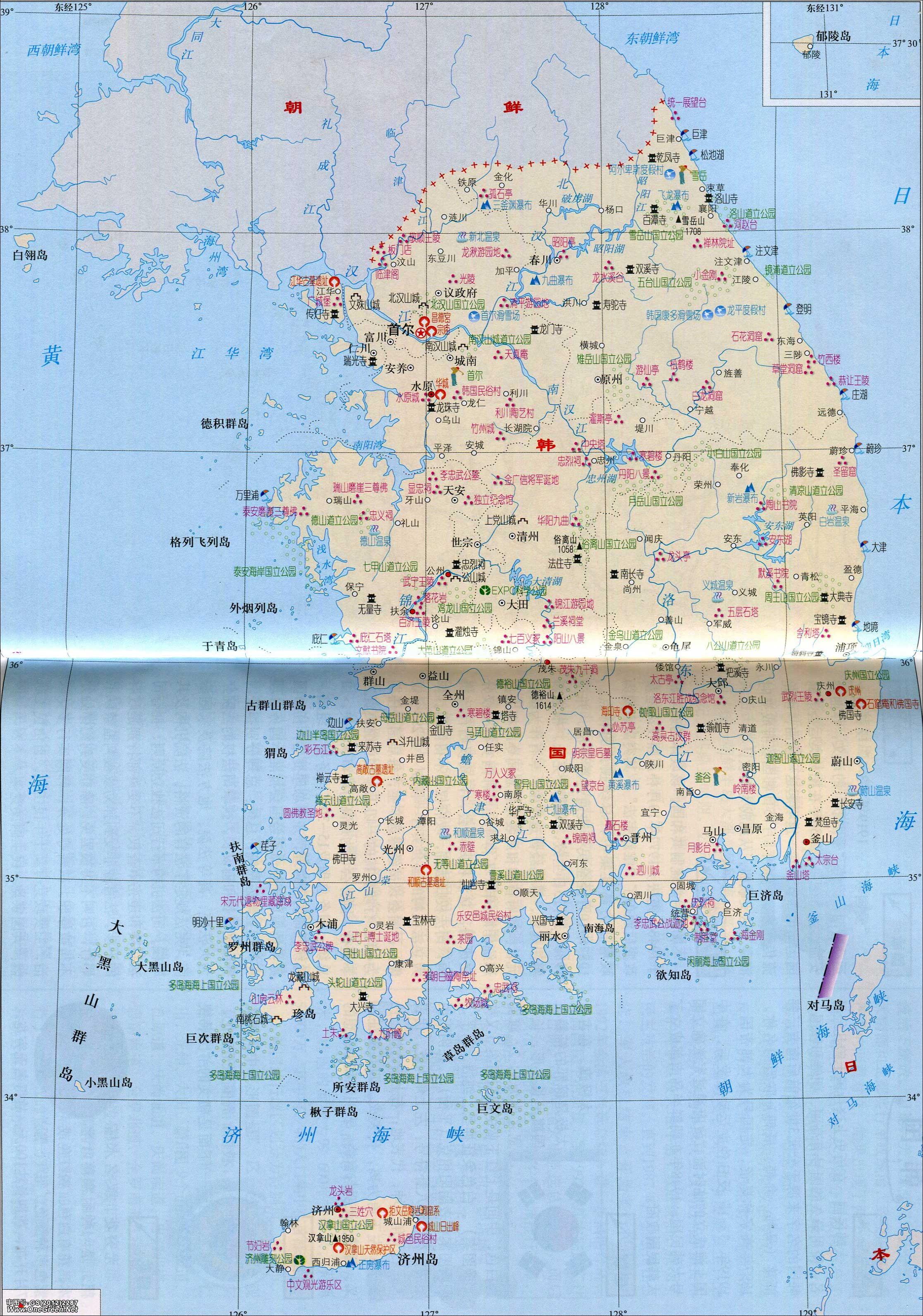 哈萨克斯坦中文地图_韩国旅游地图_韩国地图库_地图窝